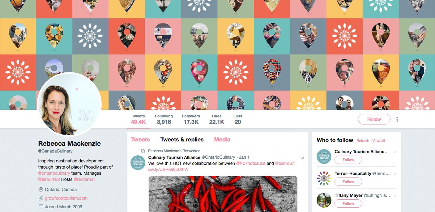 Rebecca Mackenzie's twitter profile