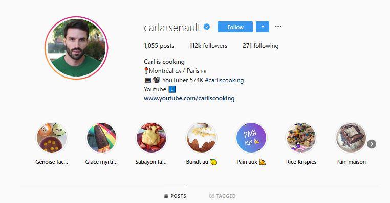 Montreal based food influencer Carl