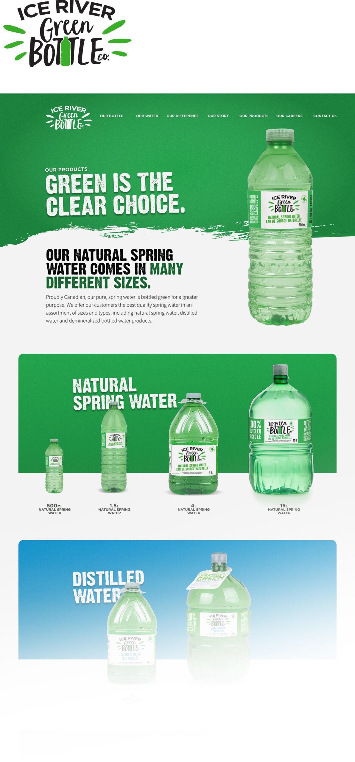 Ice River - Green Bottle website