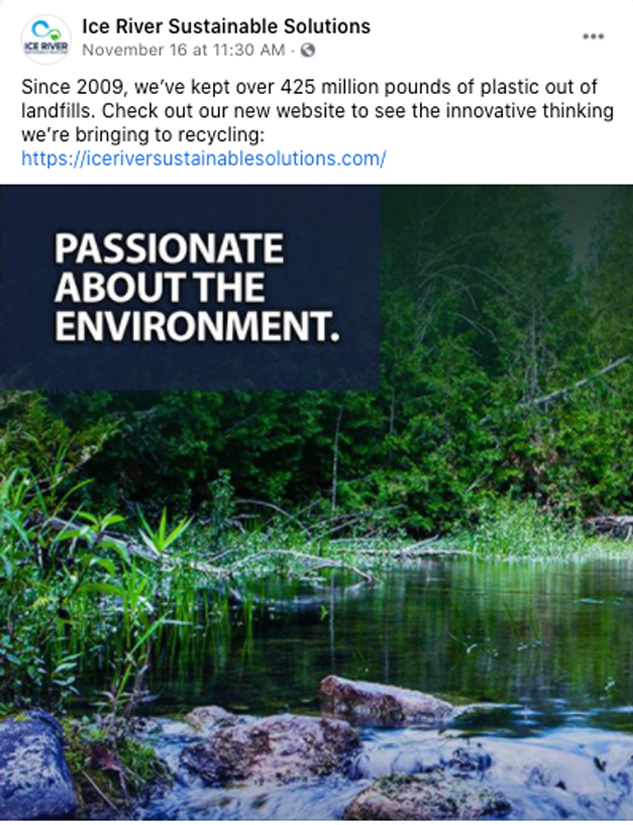 Ice River - Passionate about the environment